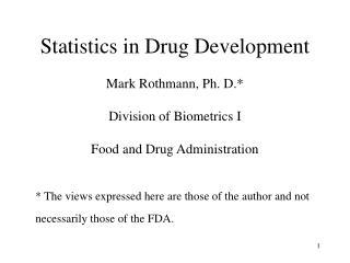 Statistics in Drug Development