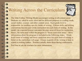 Writing Across the Curriculum