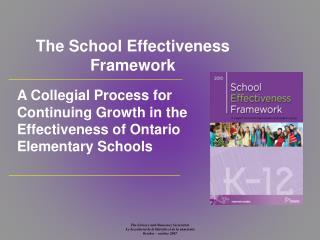 The School Effectiveness Framework