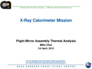 X-Ray Calorimeter Mission
