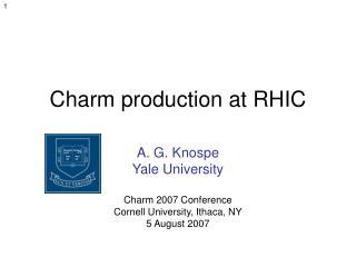 Charm production at RHIC