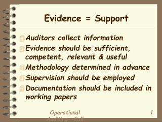 Evidence = Support