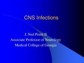 CNS Infections