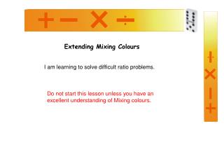 Extending Mixing Colours