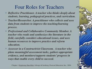 Four Roles for Teachers