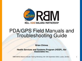 PDA/GPS Field Manuals and Troubleshooting Guide