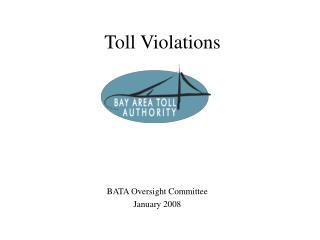 Toll Violations