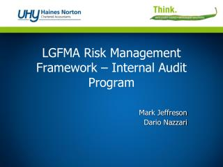 LGFMA Risk Management Framework – Internal Audit Program