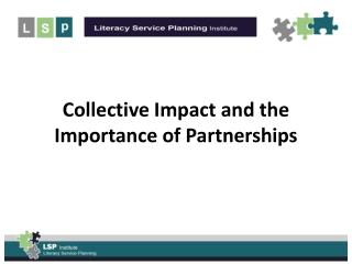 Collective Impact and the Importance of Partnerships