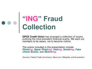 """"""" ING """" Fraud Collection"""