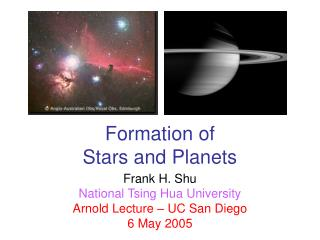 Formation of  Stars and Planets