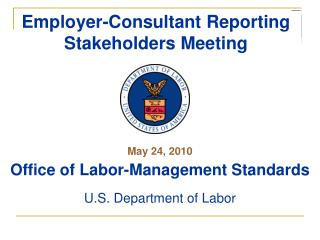 Employer-Consultant Reporting Stakeholders Meeting