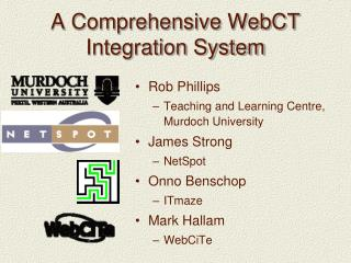 A Comprehensive WebCT Integration System
