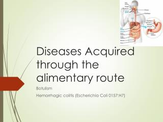 Diseases Acquired through the  alimentary route