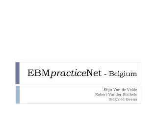 EBM practice Net  -  Belgium