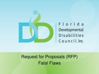 Request for Proposals (RFP) Fatal Flaws