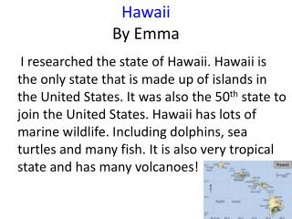 Hawaii By Emma