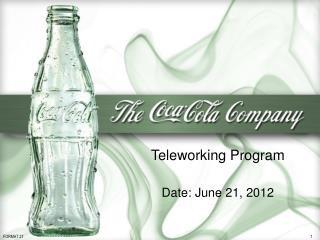 Teleworking Program Date: June 21, 2012