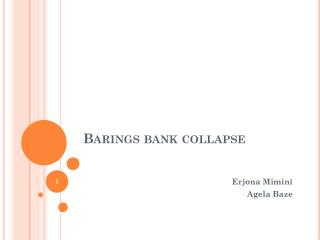 Barings bank collapse