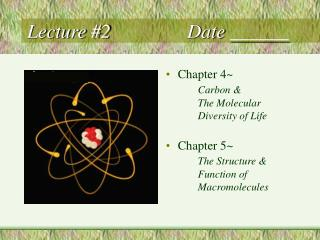 Lecture #2			Date ______