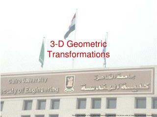 3-D Geometric Transformations