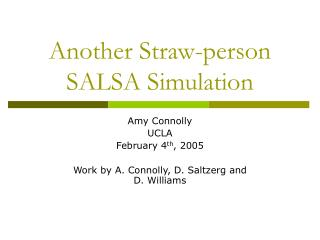 Another Straw-person SALSA Simulation