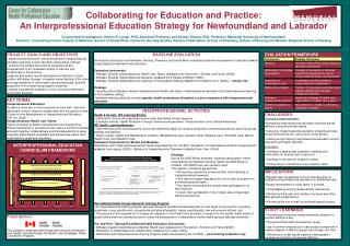 Collaborating for Education and Practice: