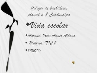 Colegio de bachilleres  plantel n°8 Cuajimalpa