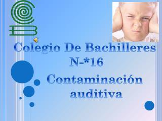 Contaminación  auditiva