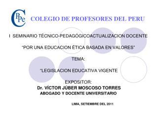 COLEGIO DE PROFESORES DEL PERU