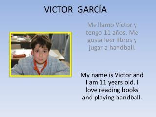 VICTOR  GARCÍA