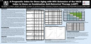 A Prognostic Index for those Aging with  HIV: Extension  of the VACS