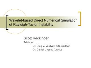 Wavelet-based Direct Numerical Simulation of Rayleigh-Taylor Instability