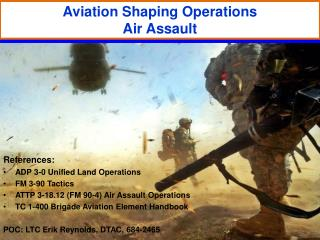 Aviation Shaping Operations Air Assault