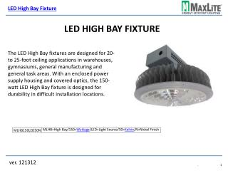 LED High Bay Fixture