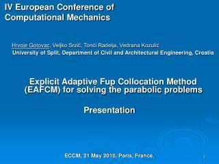 IV European Conference of Computational Mechanics