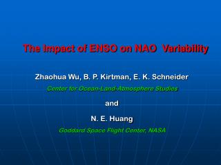 The Impact of ENSO on NAO  Variability