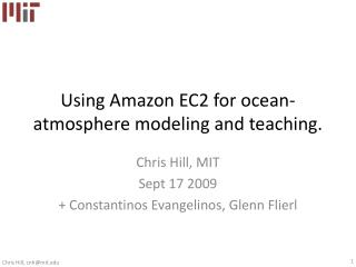 Using Amazon EC2 for ocean-atmosphere modeling and teaching.