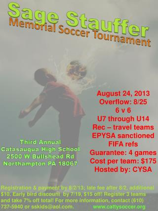Sage Stauffer Memorial Soccer Tournament