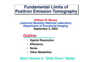 Fundamental Limits of Positron Emission Tomography