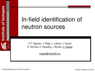 In-field identification of neutron sources