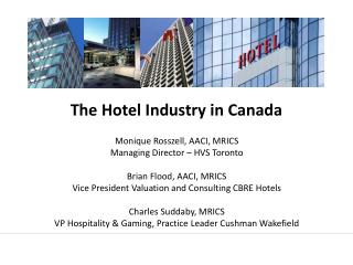 The Hotel Industry in Canada