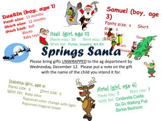 Springs Santa