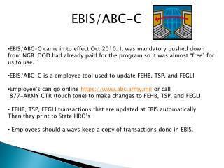 EBIS/ABC-C
