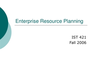 Enterprise Resource Planning ERP