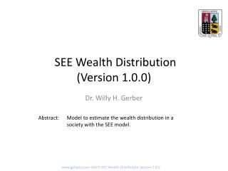 SEE Wealth Distribution  (Version 1.0.0)