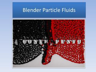 Blender Particle Fluids