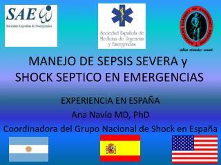 MANEJO DE SEPSIS SEVERA y  SHOCK SEPTICO EN EMERGENCIAS