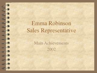 Emma Robinson Sales Representative