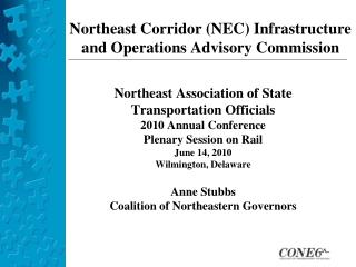 Northeast Corridor (NEC) Infrastructure  and Operations Advisory Commission